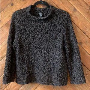 Eileen Fisher Funnel Neck Open Knit Sweater